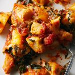 Cheesy Spinach & Chicken Pierogi Casserole
